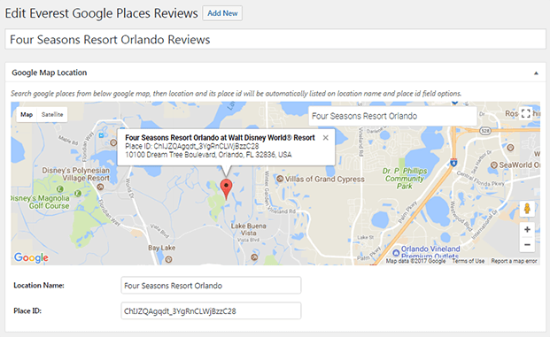 Google Maps-Reviews WordPress Plugin