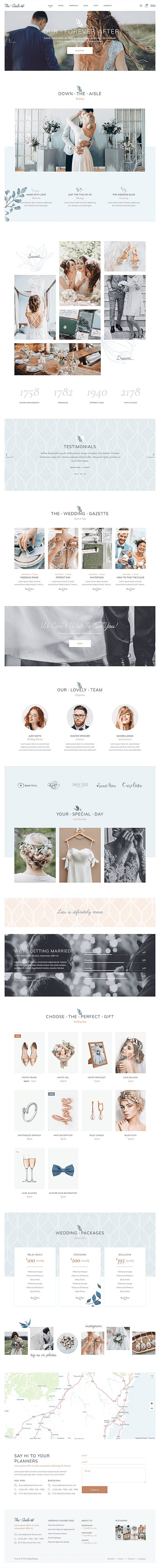 Home Page - Wedding WP Theme