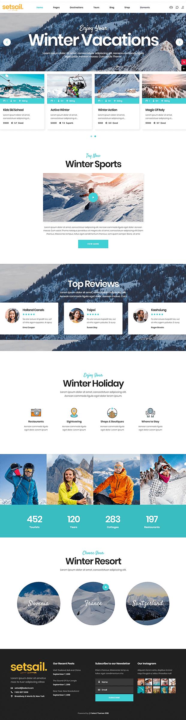 Home - WordPress Travel Agency Theme