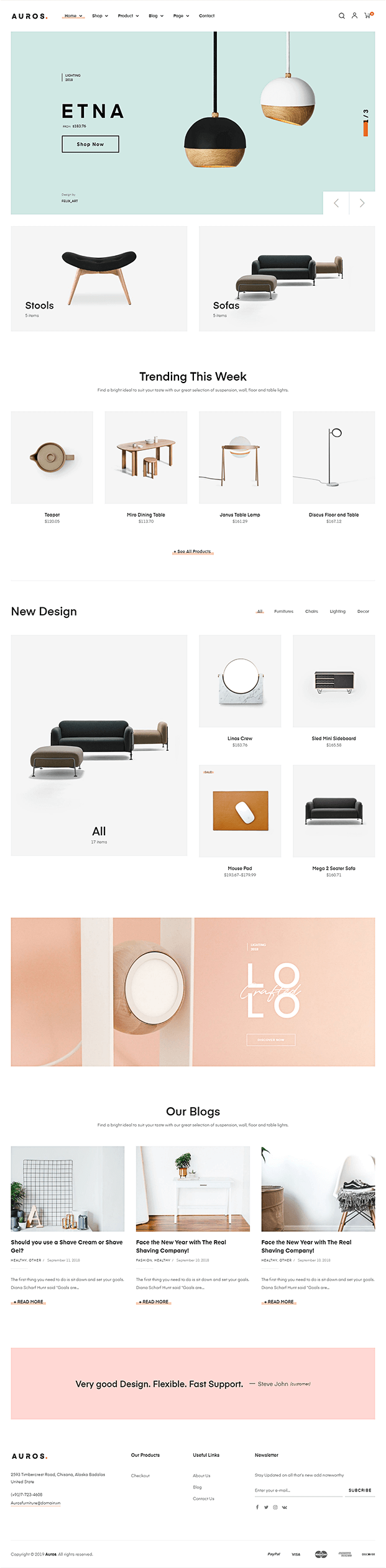 Home - WordPress Theme For Furniture Store