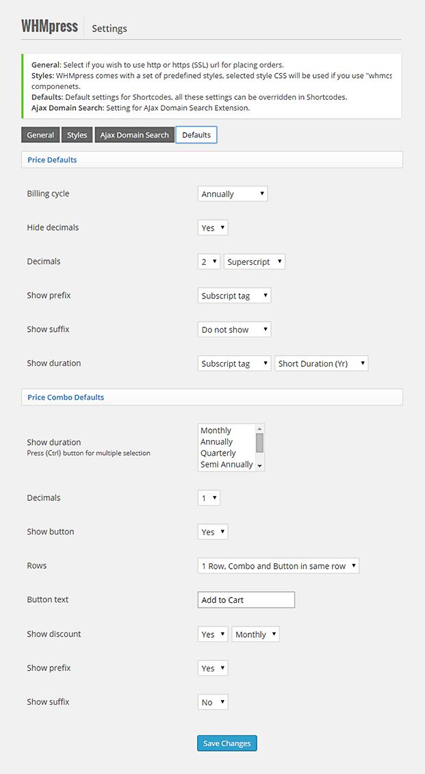 Setting-WHMCS WordPress Integration Plugin