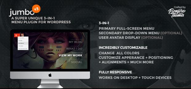 WordPress Fullscreen Menu Plugin - Home