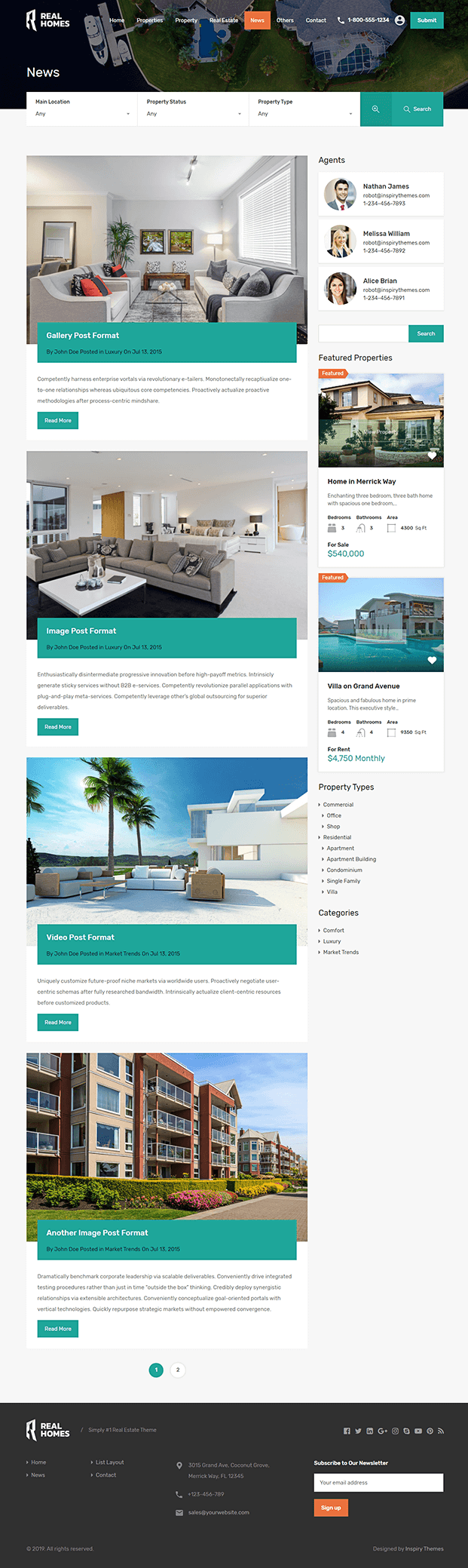 News - WP Real Estate Theme