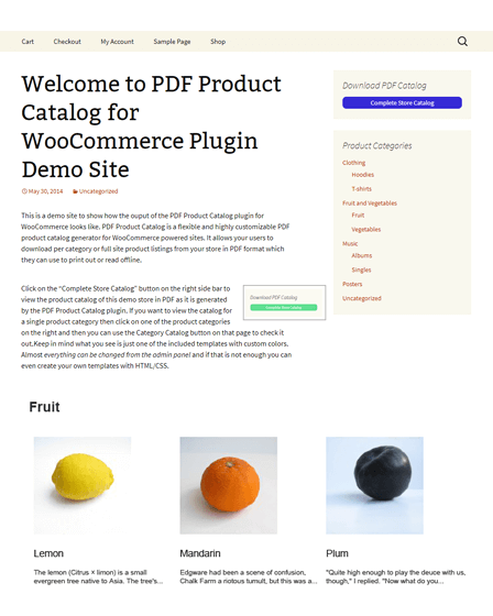 Product Catalog WordPress Plugin
