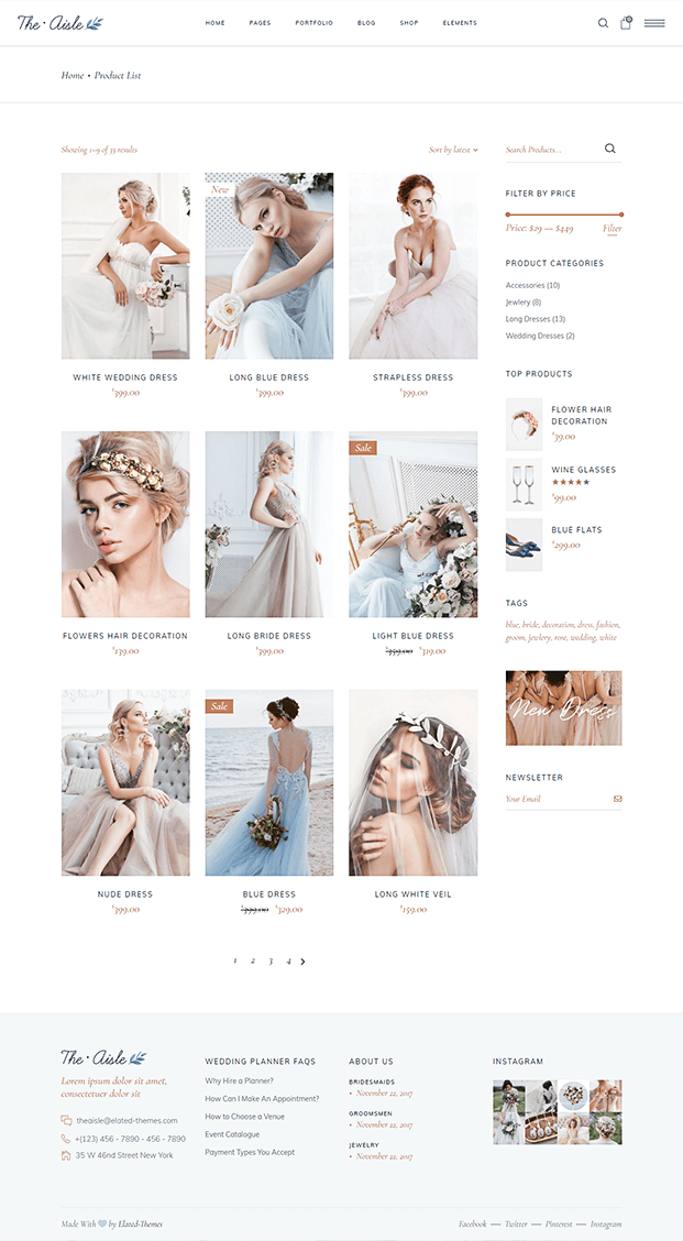 Product Page - Wedding WP Theme