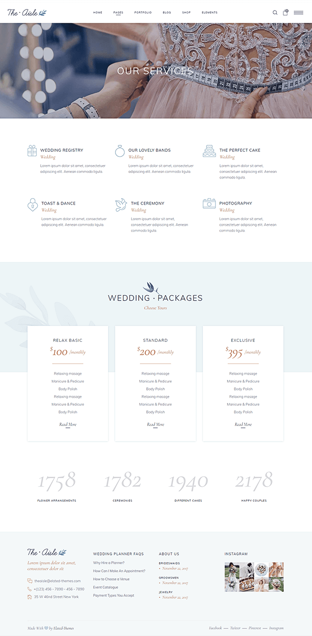 Services - Wedding WP Theme