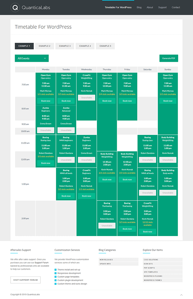 Timetable View