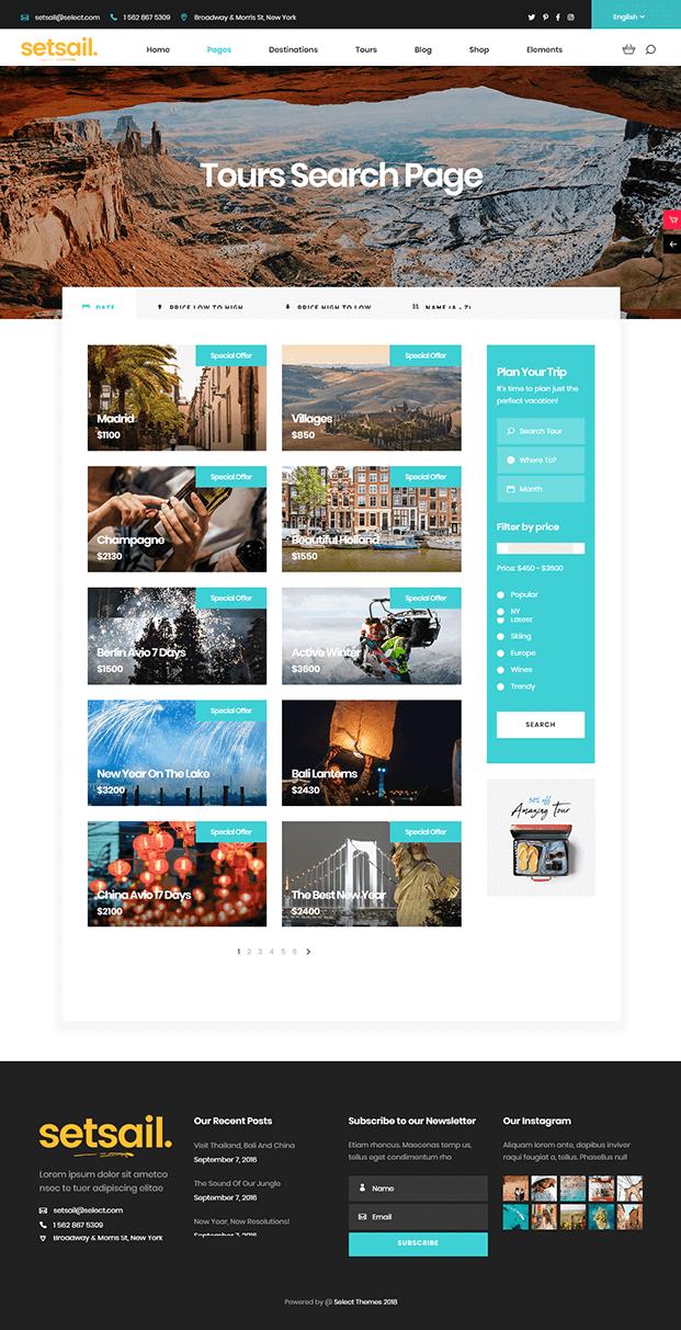 Tour - WordPress Travel Agency Theme
