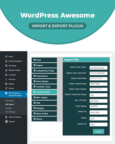 WordPress Import & Export Plugin