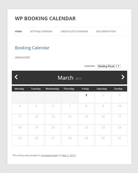Booking Calendar Appointment Booking Plugin WordPress