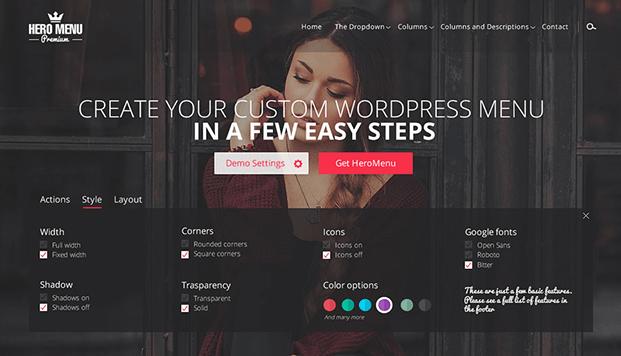 Styling - Custom WordPress Menu Plugin
