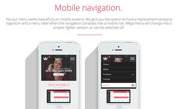 Mobile Navigation - Custom WordPress Menu Plugin