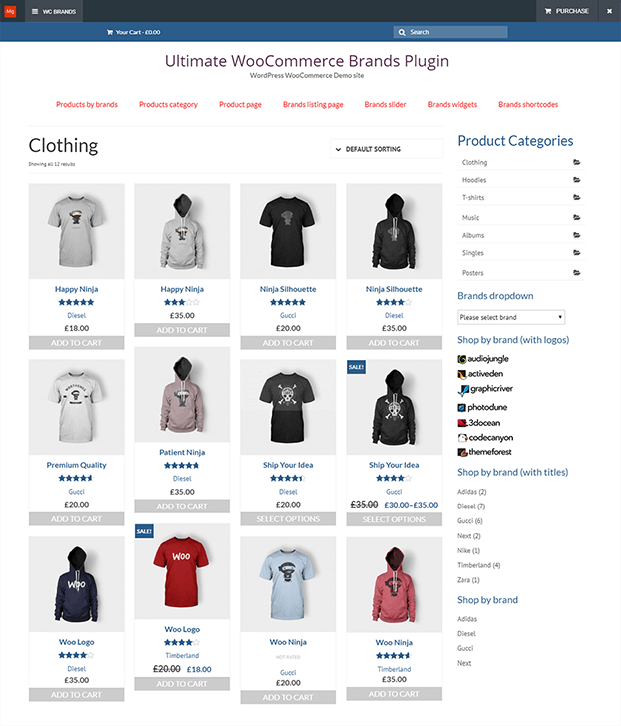 Product Page - WooCommerce Brands Plugin