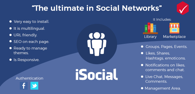 Features - Social Network Script PHP