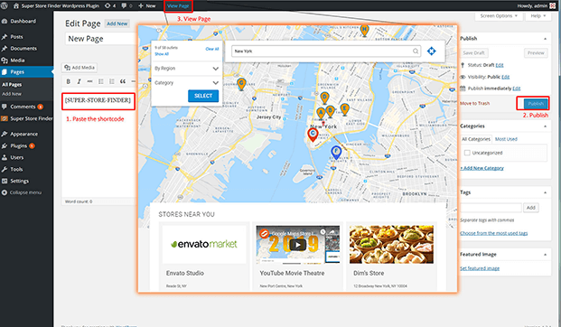 Dashboard - WordPress Store Locator Plugin