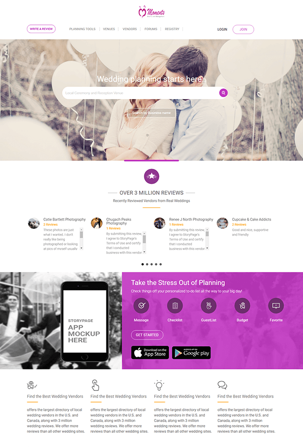 Home - Wedding Planner PHP Script