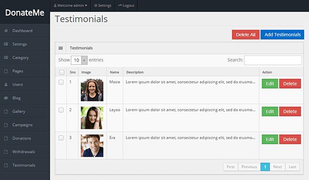 Testimonials - Crowdfunding Script PHP
