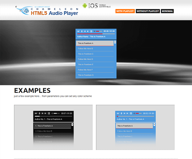 Interface - Audio Player WP Plugin