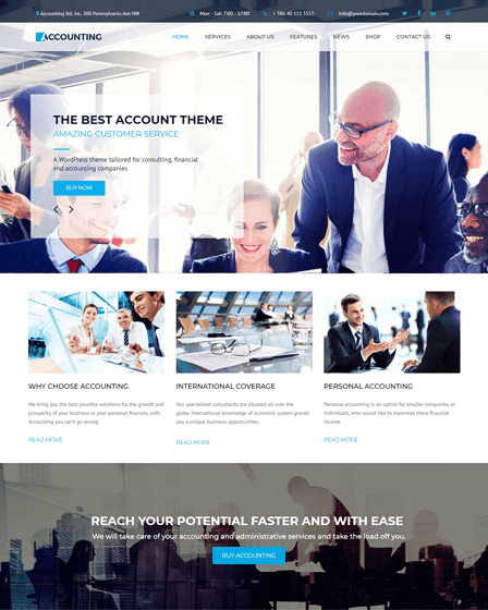 Accountant WordPress Theme