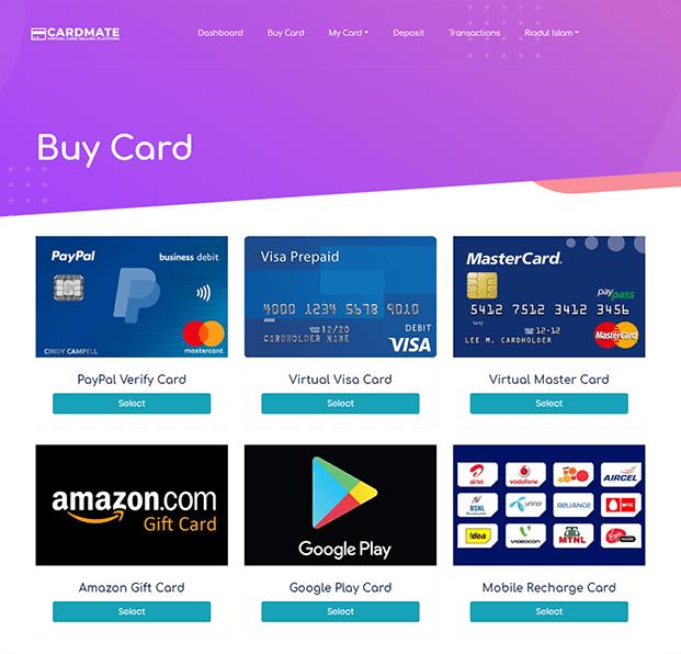 Buy - Virtual Card Selling PHP Script