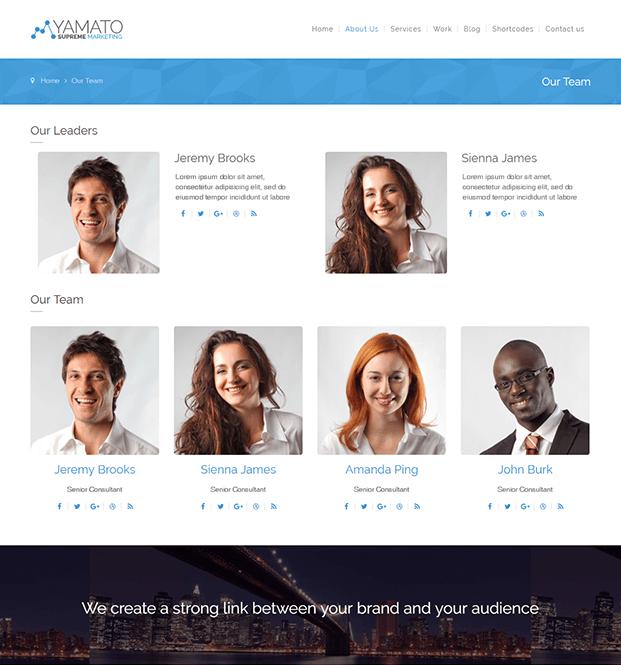About Us - WordPress Marketing Theme