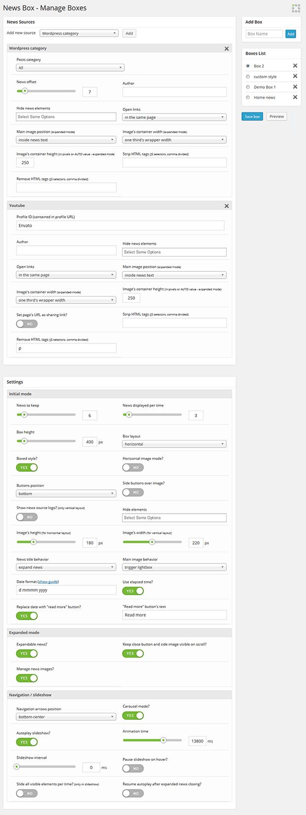 Add New Sources - WordPress Content Slider Plugin