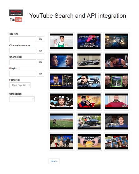 YouTube API Script