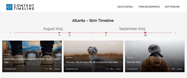 Atlanta Slim Timeline - Timeline WordPress Plugin