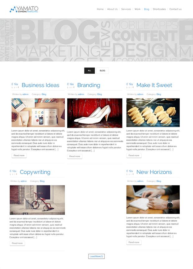 Blog - WordPress Marketing Theme