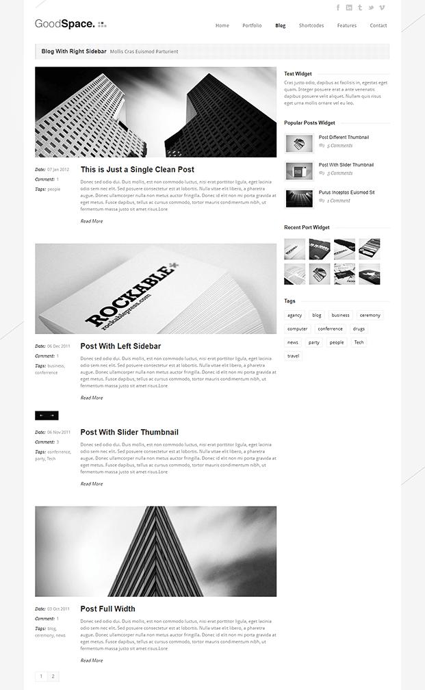 Blog - Minimal WordPress Portfolio Theme