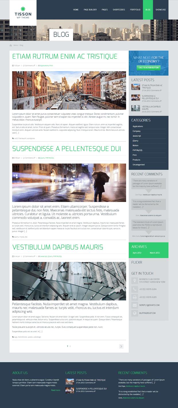 Blog - Responsive WordPress Business Theme