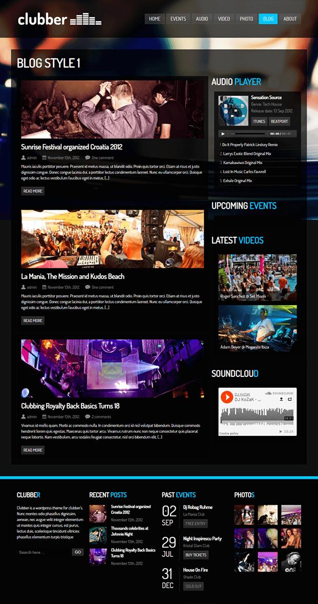 Blog - WordPress Theme For Entertainment