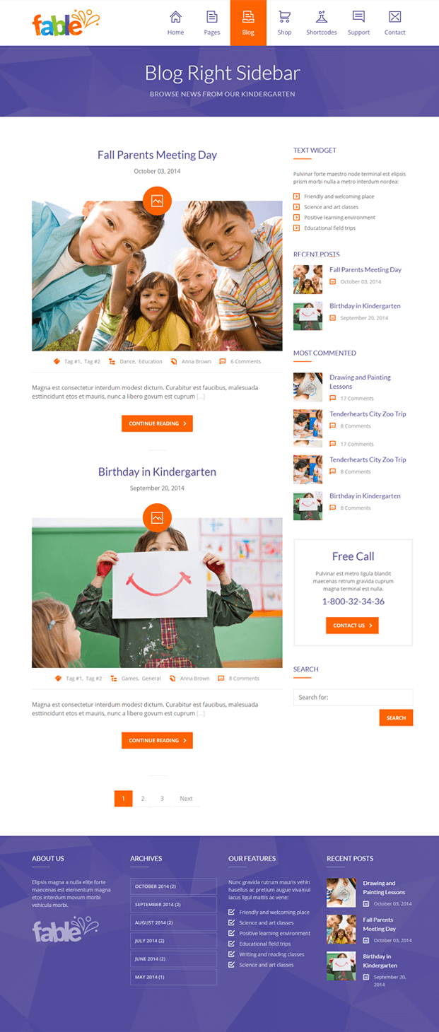Blog - WordPress Theme Kindergarten