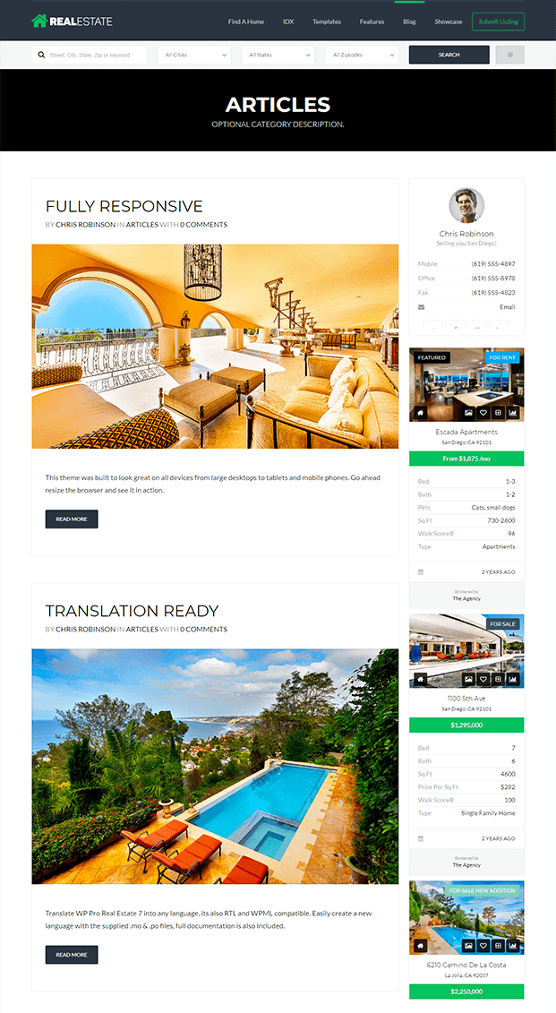 Blog - Real Estate WP Theme