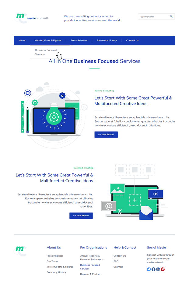 Facts - Consulting Business WordPress Theme