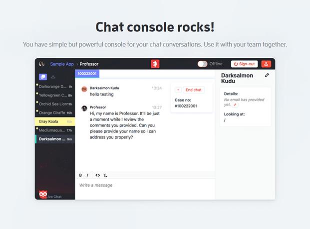 Live Chat WordPress Plugin - Chat Console