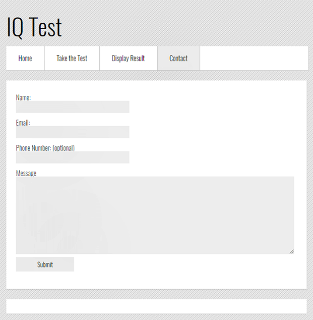 Contact - IQ Test Script