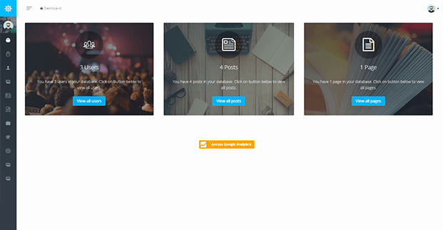 Dashboard - PHP Church Website Script