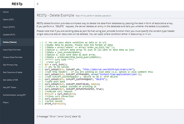 Delete - PHP CRUD Generator