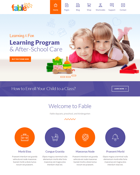 WordPress Theme Kindergarten