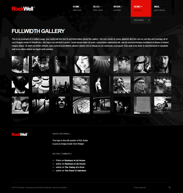 Gallery - Best Blogging WordPress Theme