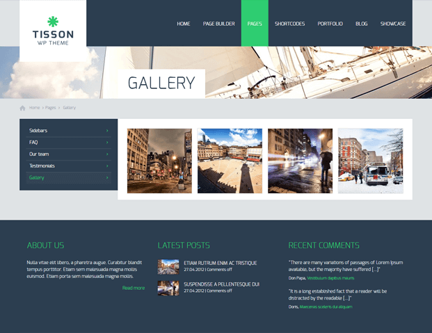 Gallery - Responsive WordPress Business Theme