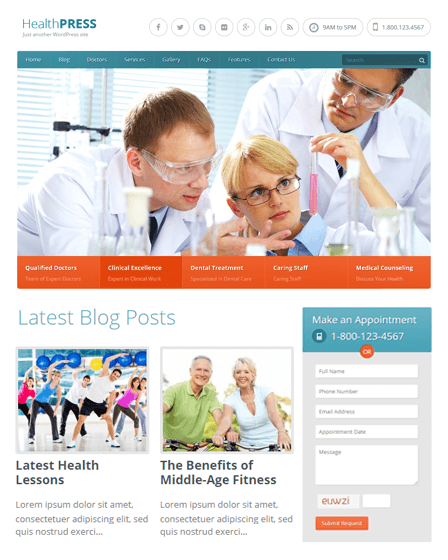 WordPress Theme For Health