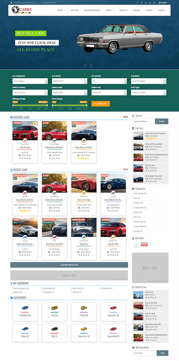 Home  -  Car Marketplace Script