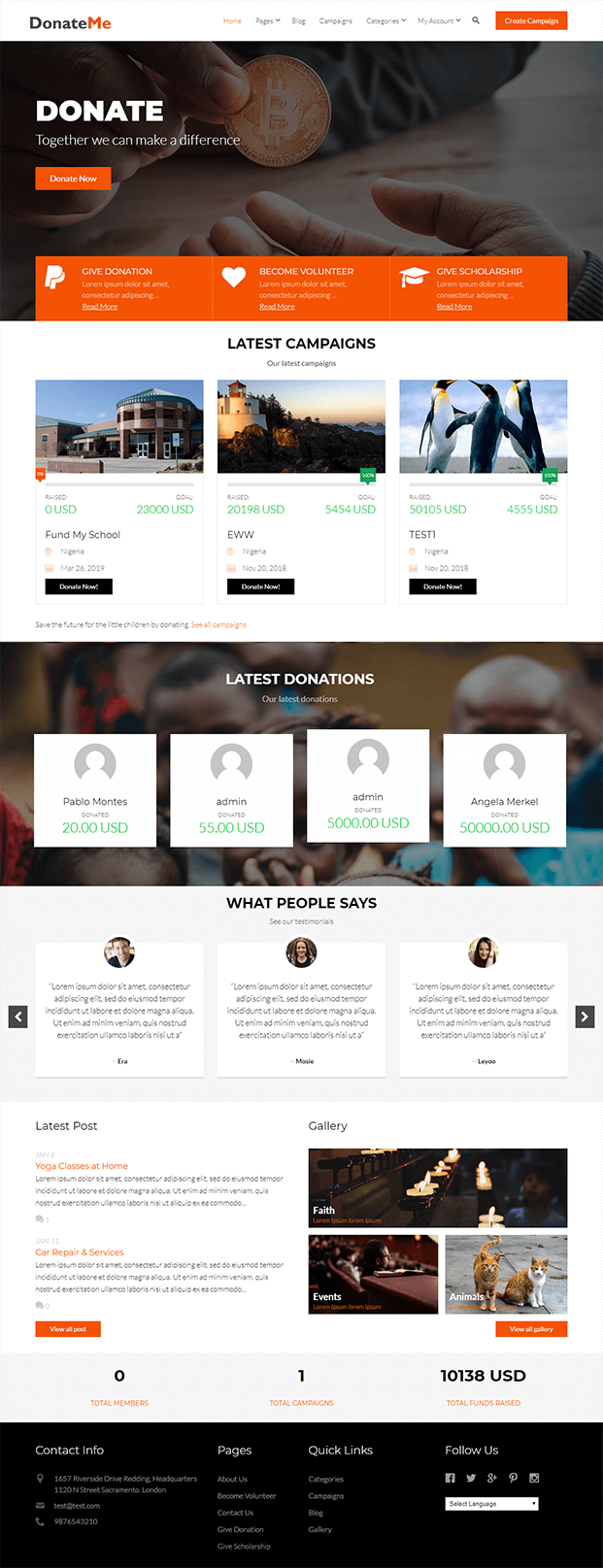 Homepage - Crowdfunding Script PHP