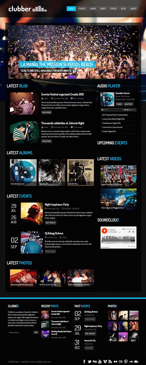 Home - WordPress Theme For Entertainment