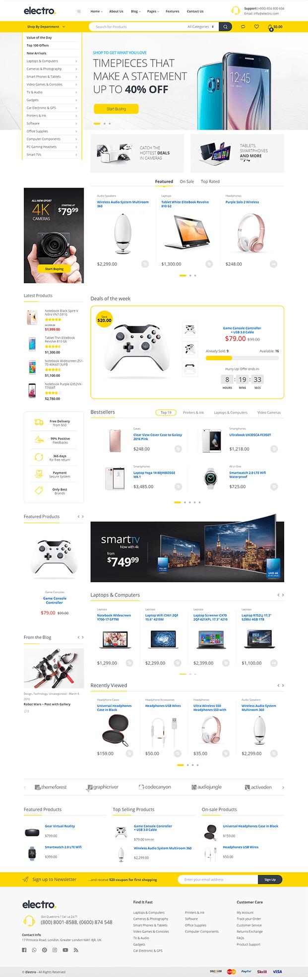 Home - Electronic WordPress Theme