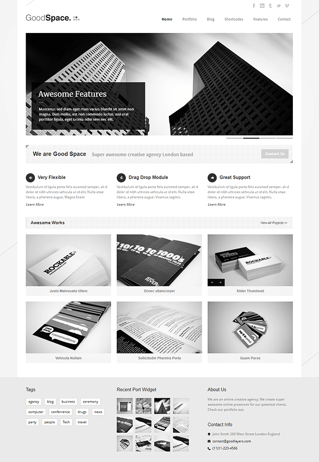 Home - Minimal WordPress Portfolio Theme