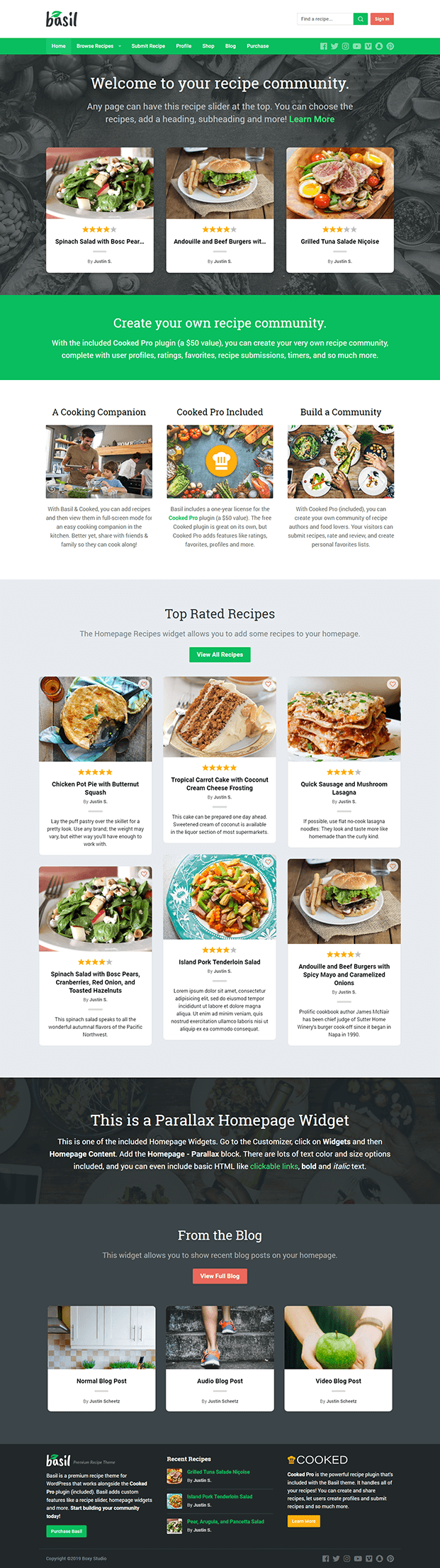 Home - Recipe WordPress Theme