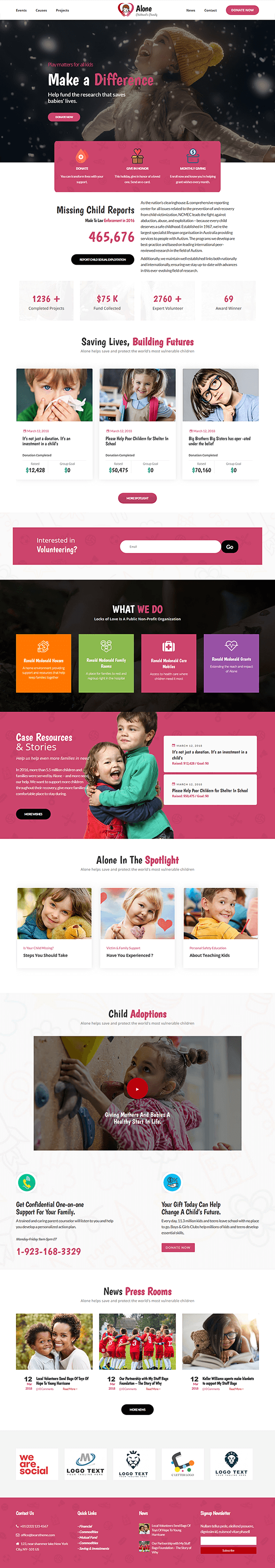 Home - WordPress NGO Theme